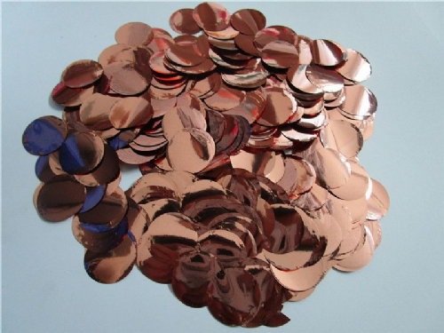 Rose Gold Foil Metallic Confetti 50g 2.5cm